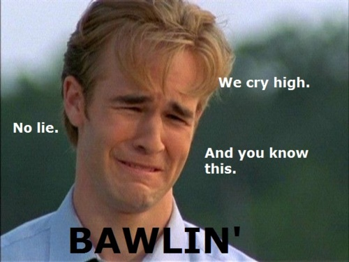 dawsons creek crying. from Dawson#39;s Creek.