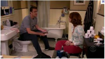 himym lily marshall bathroom