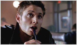 dean chewing pen