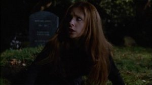 Buffy climbing out of her grave