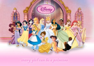 Disney princesses picture with photoshopped Jared Padalecki