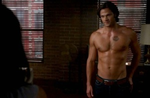 Jared Padalecki shirtless scene from Supernatural