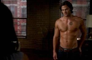Jared Padalecki shirtless scene from Supernatural
