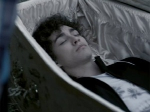Nathan in coffin