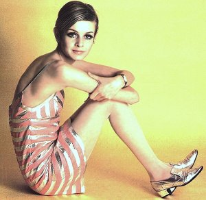 Twiggy picture from 1960s