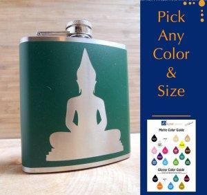 Buddha hip flask
