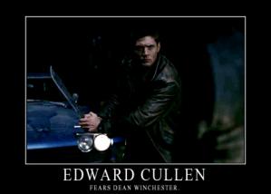 Edward Cullen fears Dean Winchester