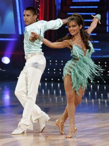 Barack Obama and Sarah Palin photoshopped onto dancers' bodies