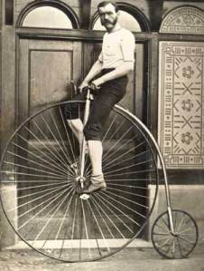 man on penny-farthing