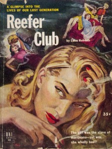 poster for Reefer Club by Luke Roberts- the girl was a slave to marijuana yet was she wholly bad?