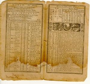 old almanac double page spread