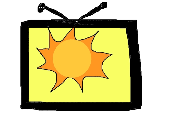 Hot sun in the TV