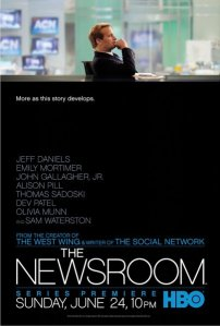 Aaron Sorkin's The Newsroom HBO poster