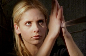 Buffy catching sword