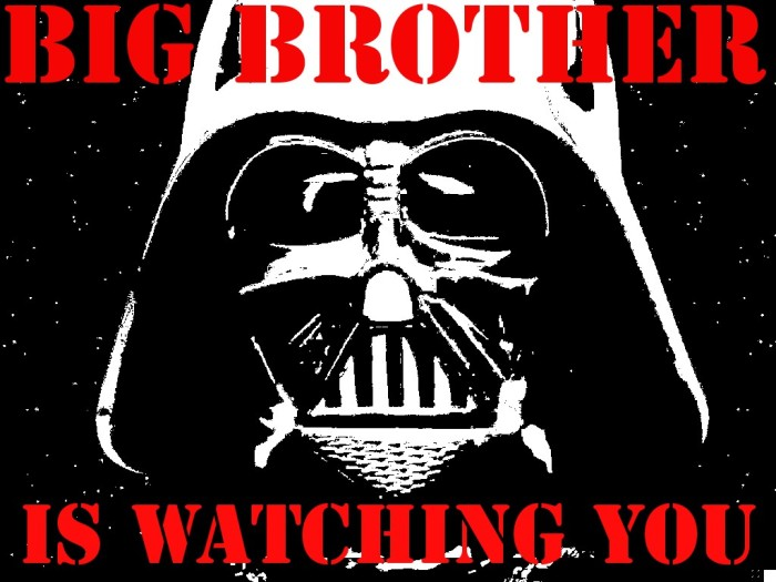 big brother is watching you darth vader
