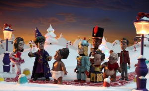stop motion still from Abed's Uncontrollable Christmas episode of Community